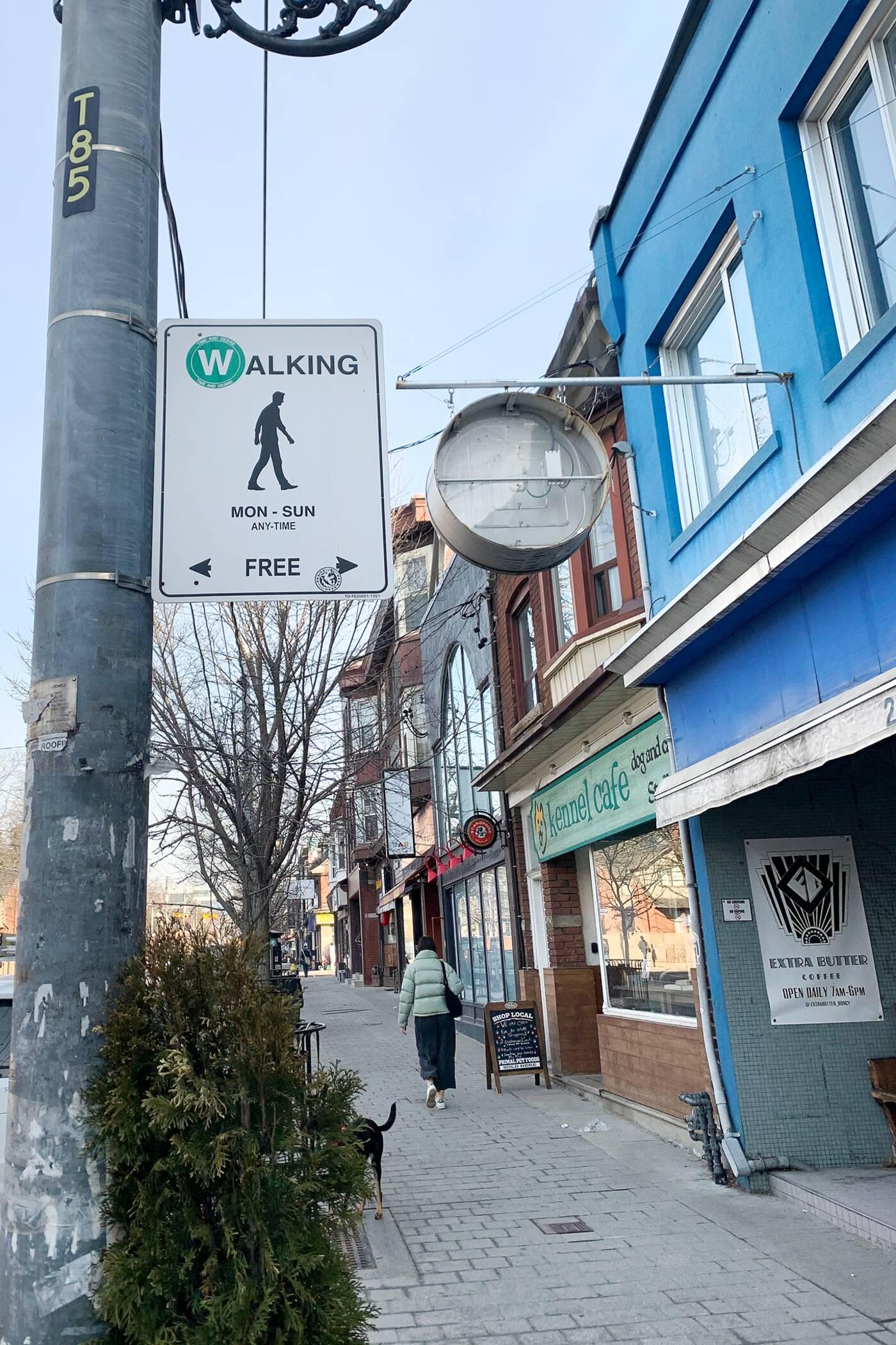 假街标志多伦多