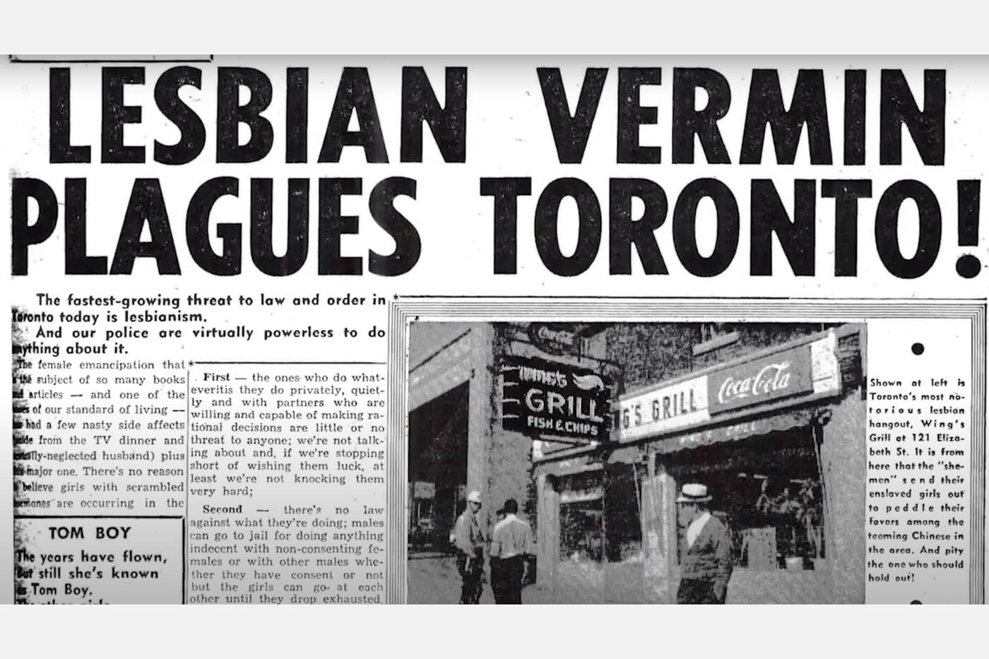toronto bar lesbian history