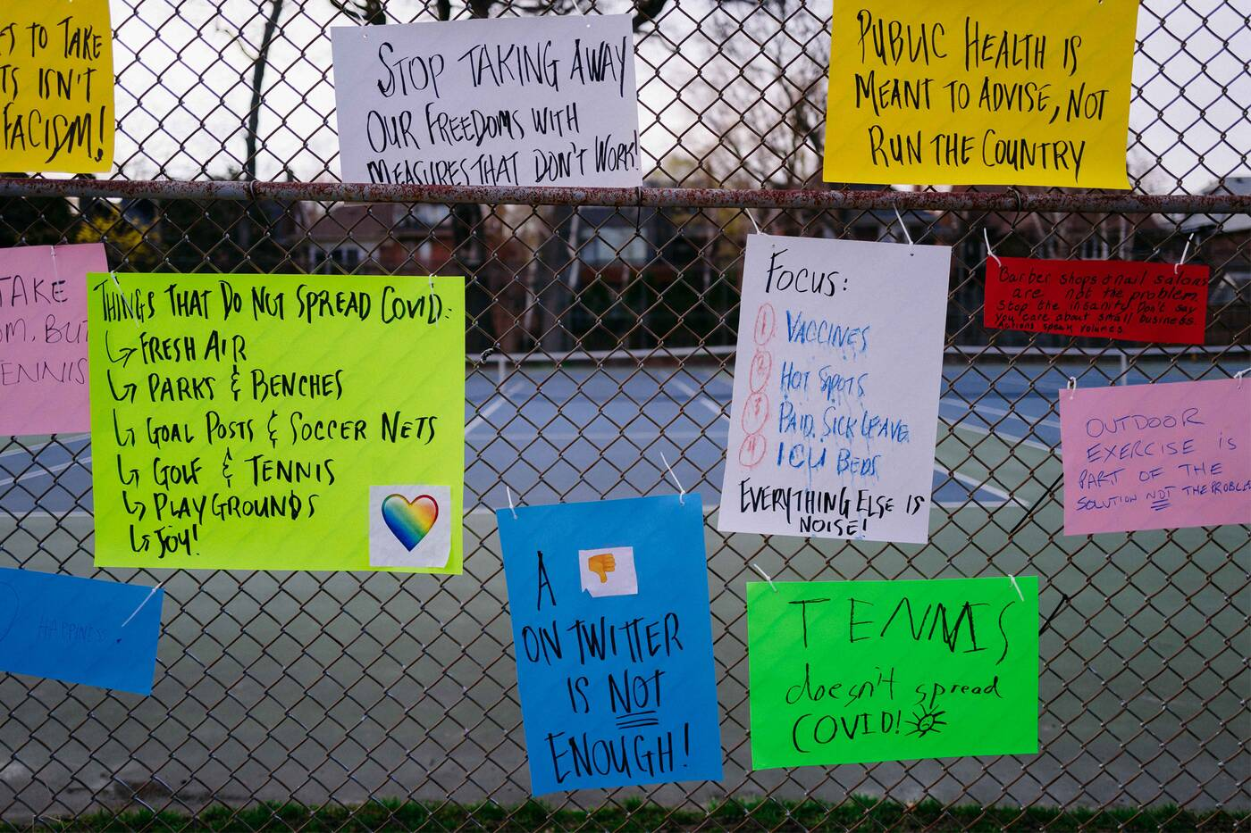 toronto park protest lockdown covid