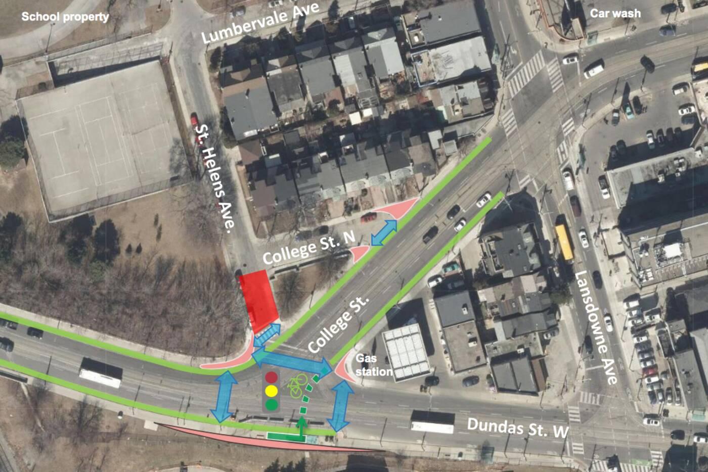 college dundas intersection